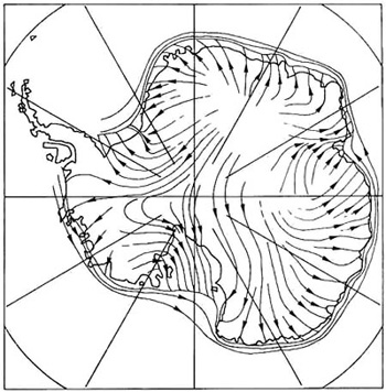 The Map On The Left Shows The Prevailing Wind Direction Over Antarctica Comparing It To The Map On The Right Showing Height Above Sea Level In Metres